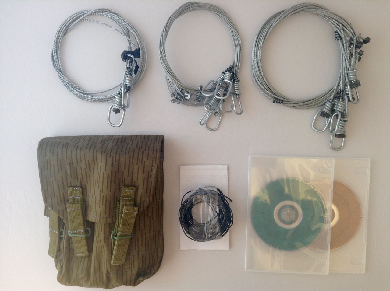 Buckshot's Emergency Snare Kit, Survival Snaring DVD & Advanced Survival Snaring DVD