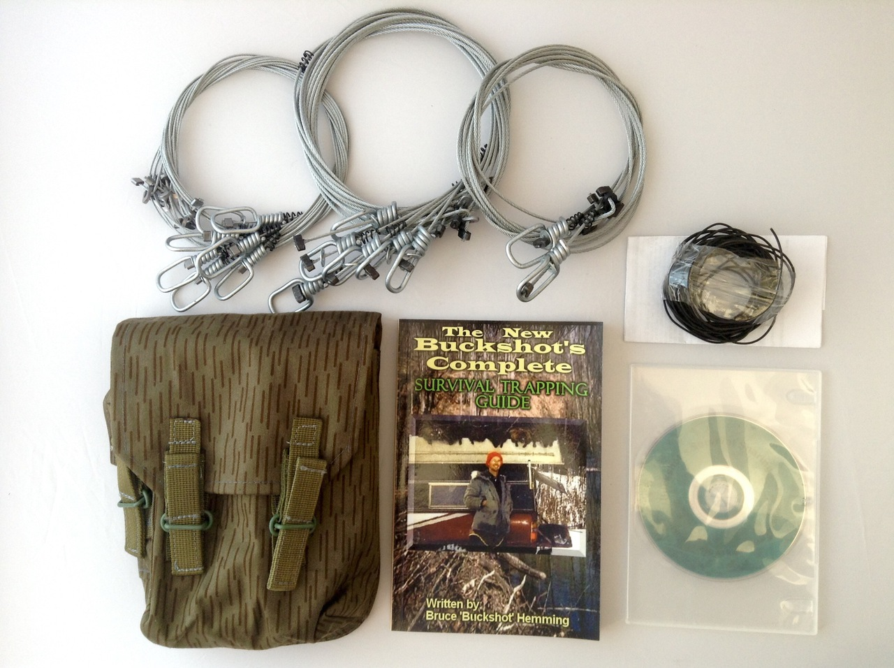 Buckshot's Emergency Snare Kit, Survival Snaring DVD & Buckshot's Complete Survival Trapping Guide