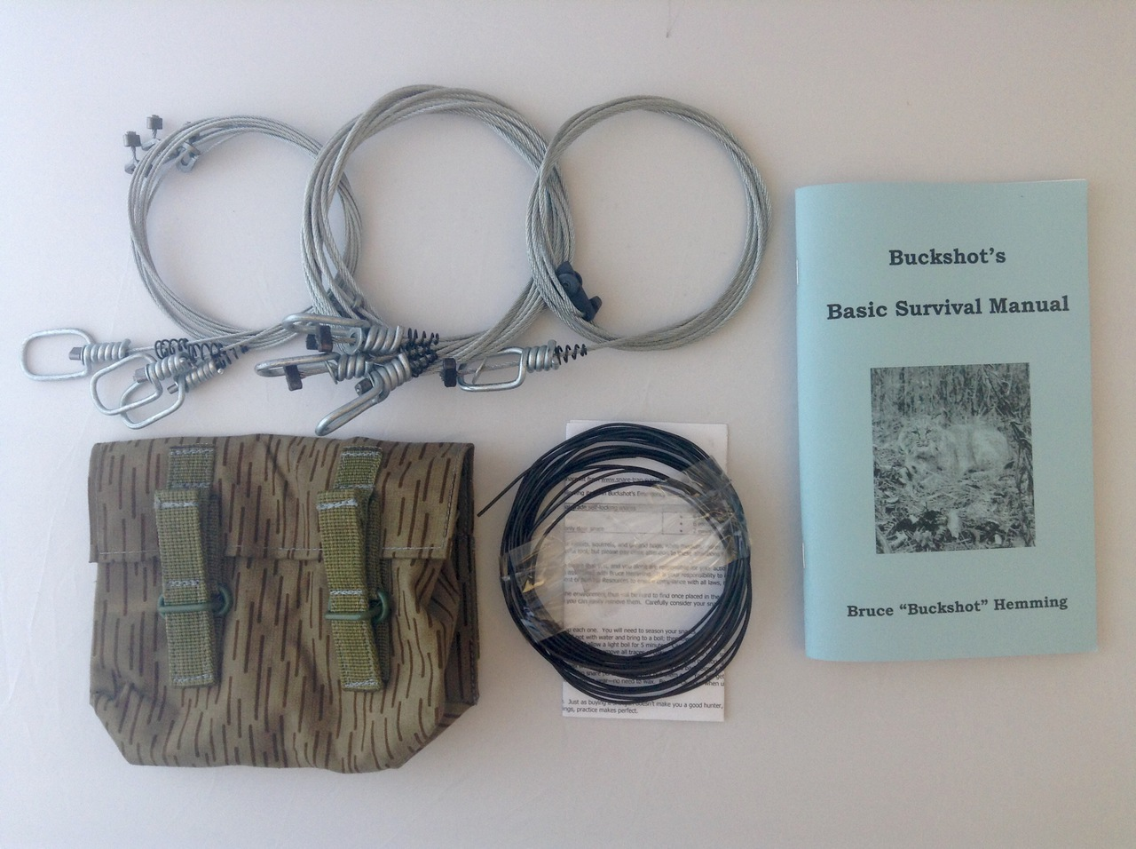 Buckshot's Small Snare Kit & Buckshot's Basic Survival Manual