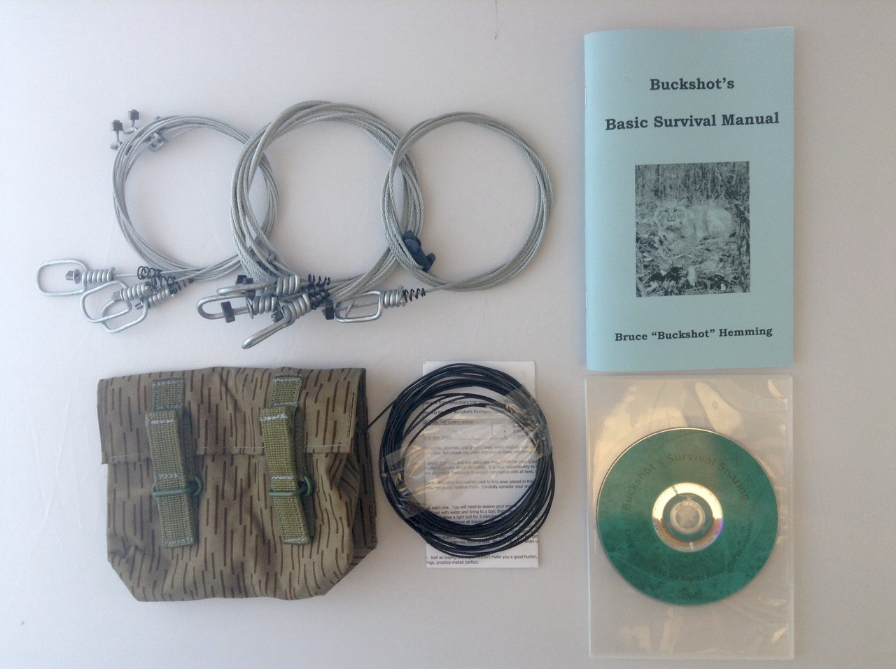 Buckshot's Small Snare Kit, Buckshot's Basic Survival Manual & Survival Snaring DVD