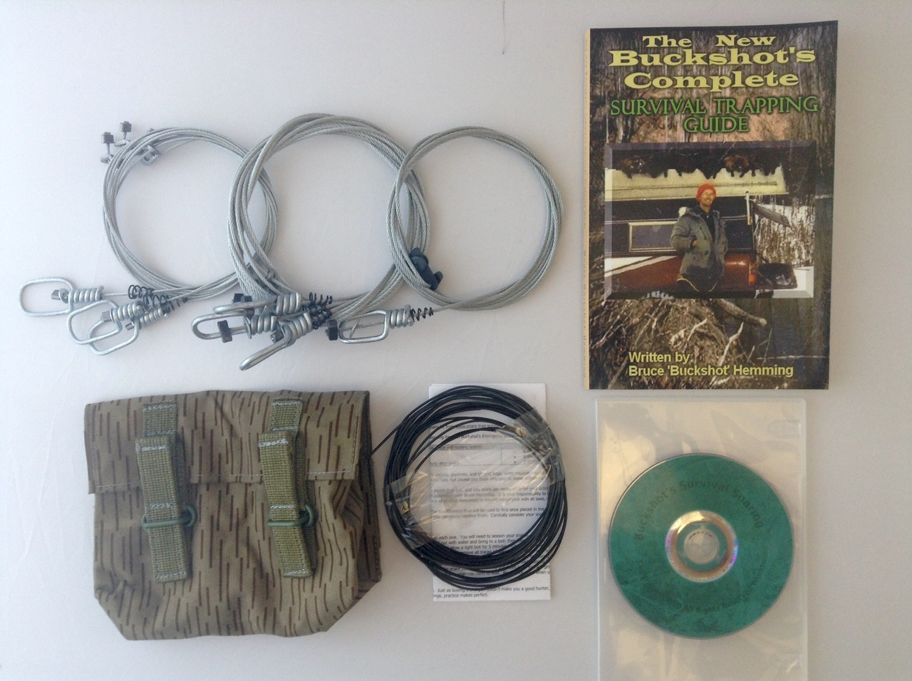 Buckshot's Small Snare Kit, Buckshot's Complete Survival Trapping Guide & Survival Snaring DVD