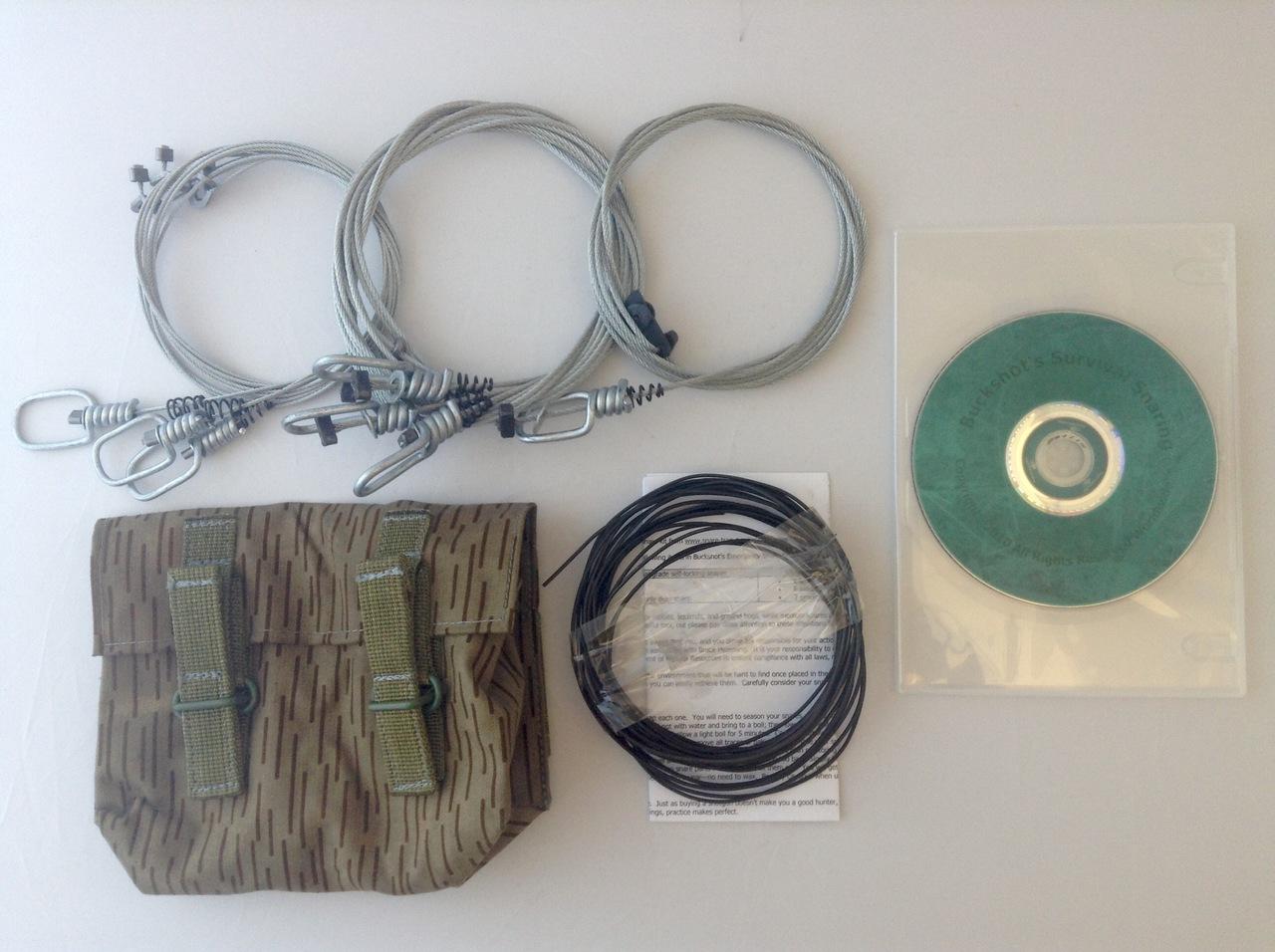 Buckshot's Small Snare Kit & Survival Snaring DVD