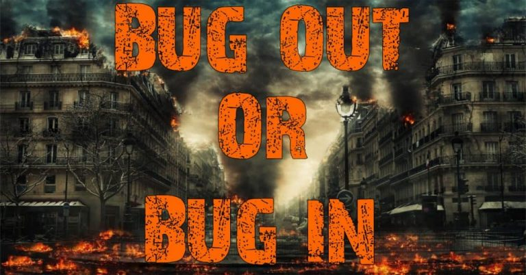 bug out or bug in