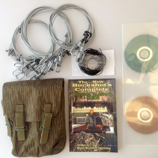 Buckshot's Emergency Snare Kit, Survival Snaring DVD, Advanced Survival Snaring DVD & Buckshot's Complete Survival Trapping Guide